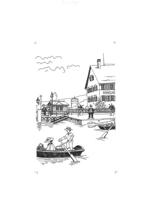 Ruderboot bei der Schifflände