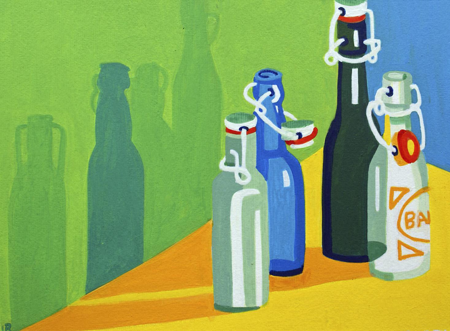 Vier unterschiedliche Bierflaschen