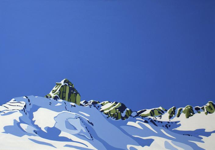 Verschneite Berggipfel