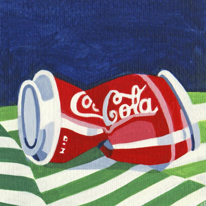 Zerdrückte Coca-Cola Dose