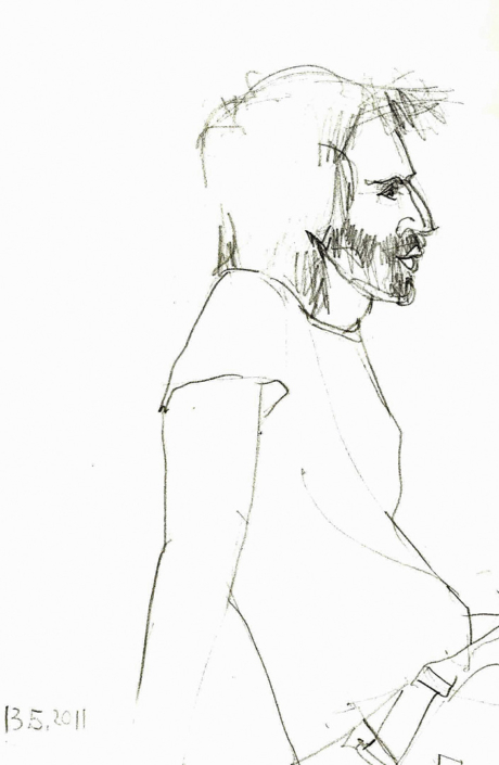Porträtzeichnung von Milenko