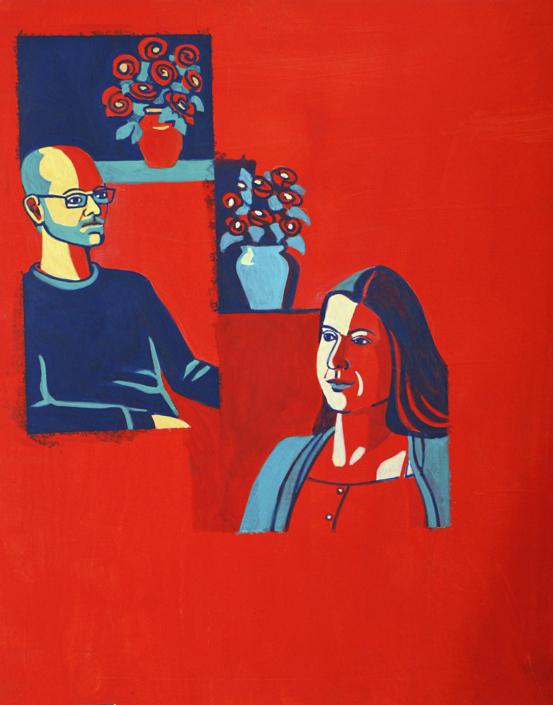 Porträts von 2 Personen