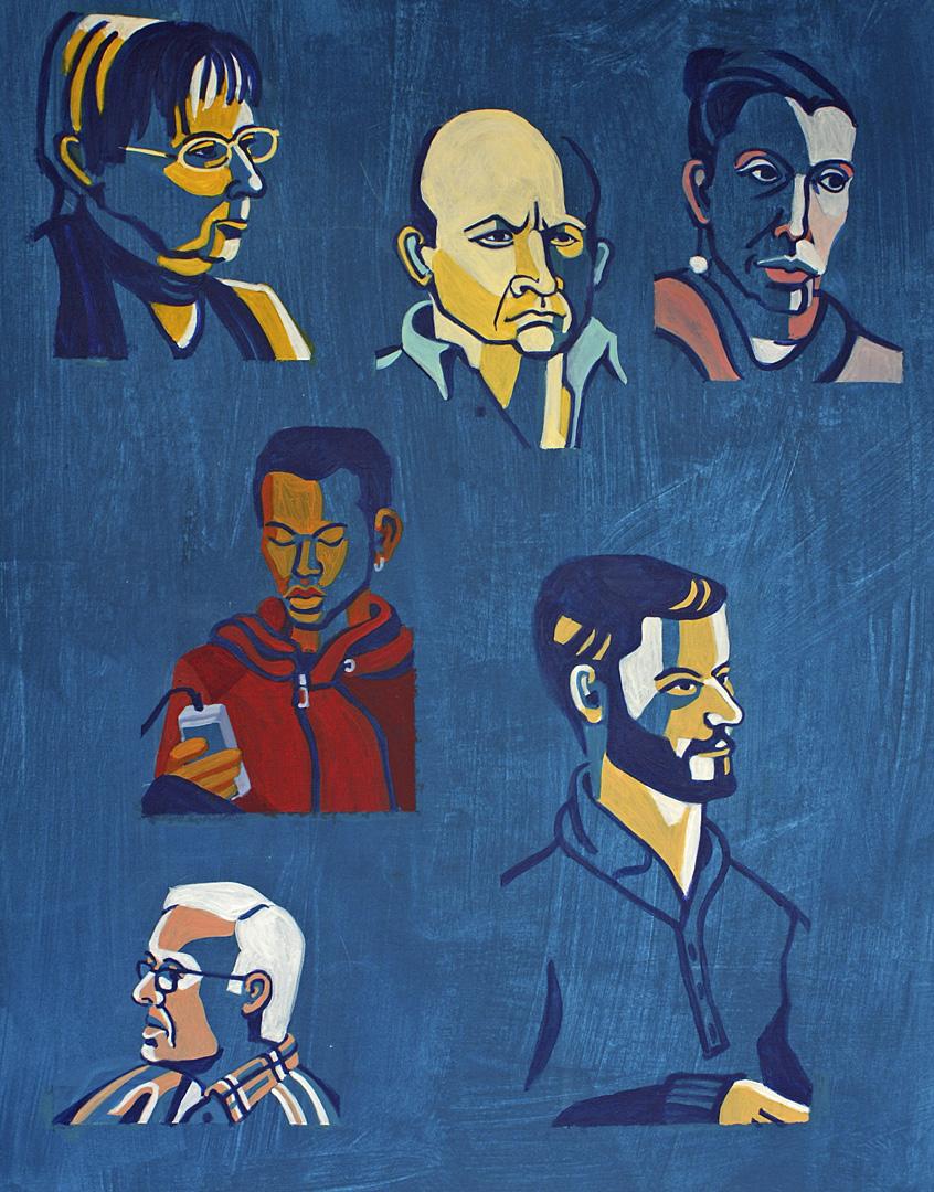 Porträts von 6 Personen